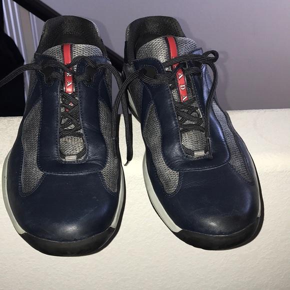 Prada Shoes | Mens Prada Sneakers Blue